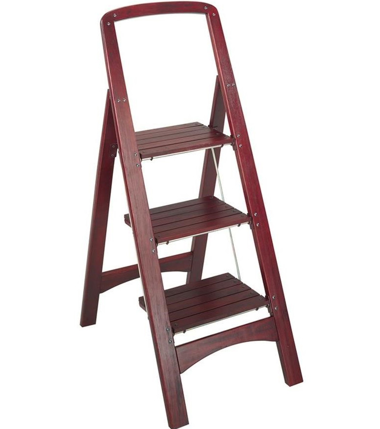 Wood Folding Step Stool ...  sc 1 st  Organize-It & Ladders | Stepping Stools | Folding Step Stools | Library Step Stool islam-shia.org