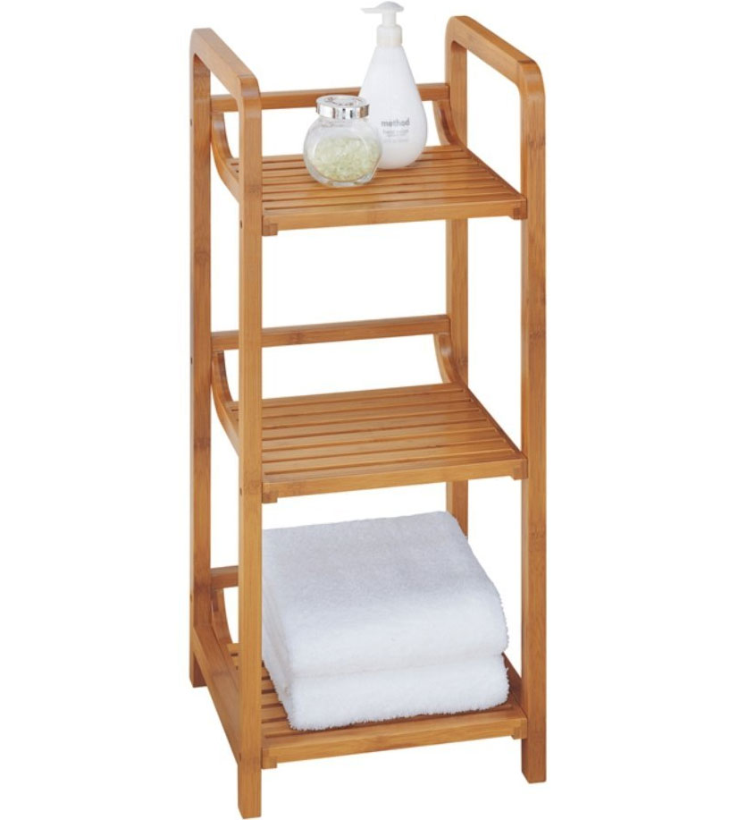 3 tier bathroom etagere in bathroom shelves. Black Bedroom Furniture Sets. Home Design Ideas