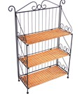 3 Tier Wicker and Iron Bookcase