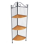 3 Tier Wicker Corner Bookcase