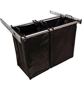 30 Inch Pull-Out Double Laundry Hamper Image