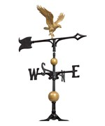 30 Inch Roof Weathervane - Gold-Bronze Eagle