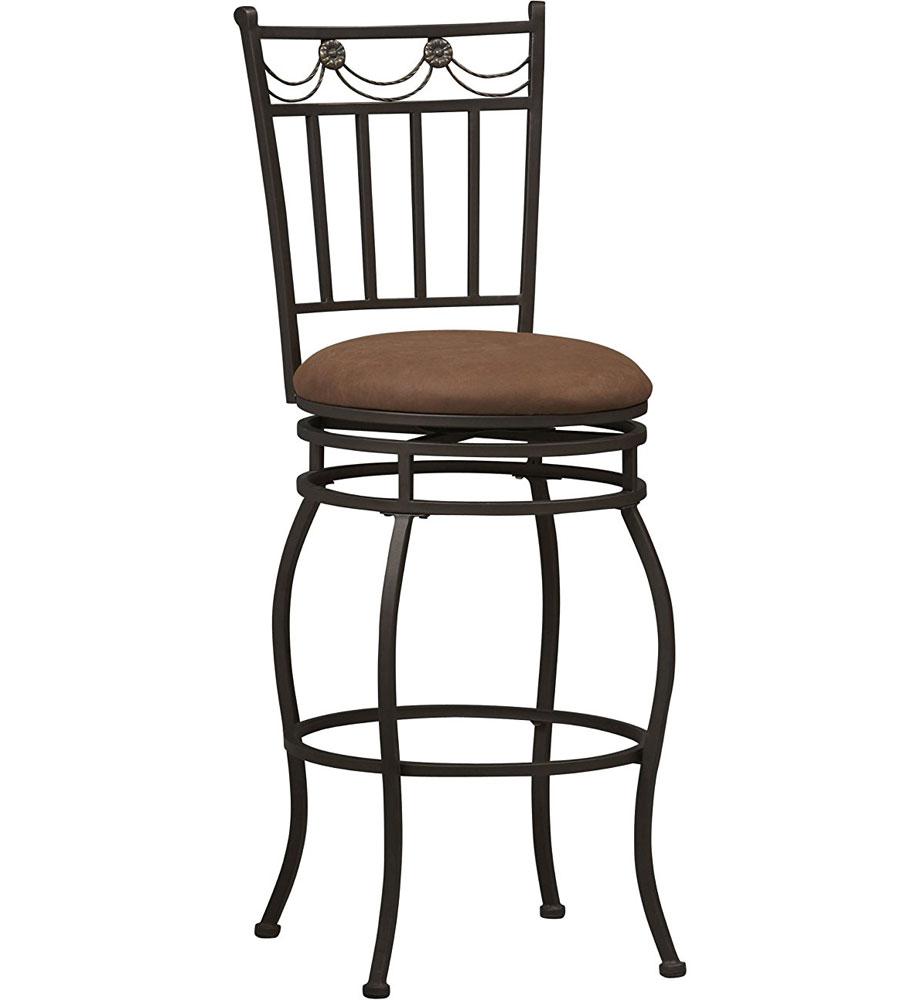 30 inch swag metal bar stool in metal bar stools. Black Bedroom Furniture Sets. Home Design Ideas
