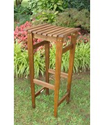 30 Inch Stained Backless Wooden Barstool