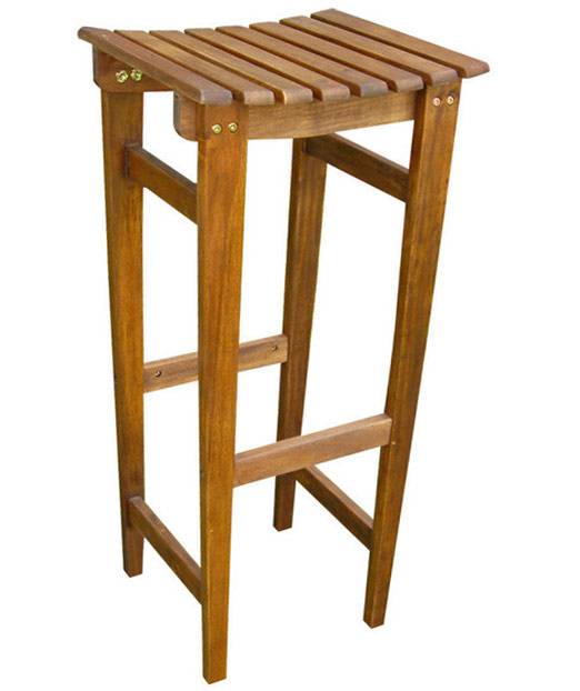 30 Inch Stained Backless Wooden Barstool In Outdoor Bar Stools