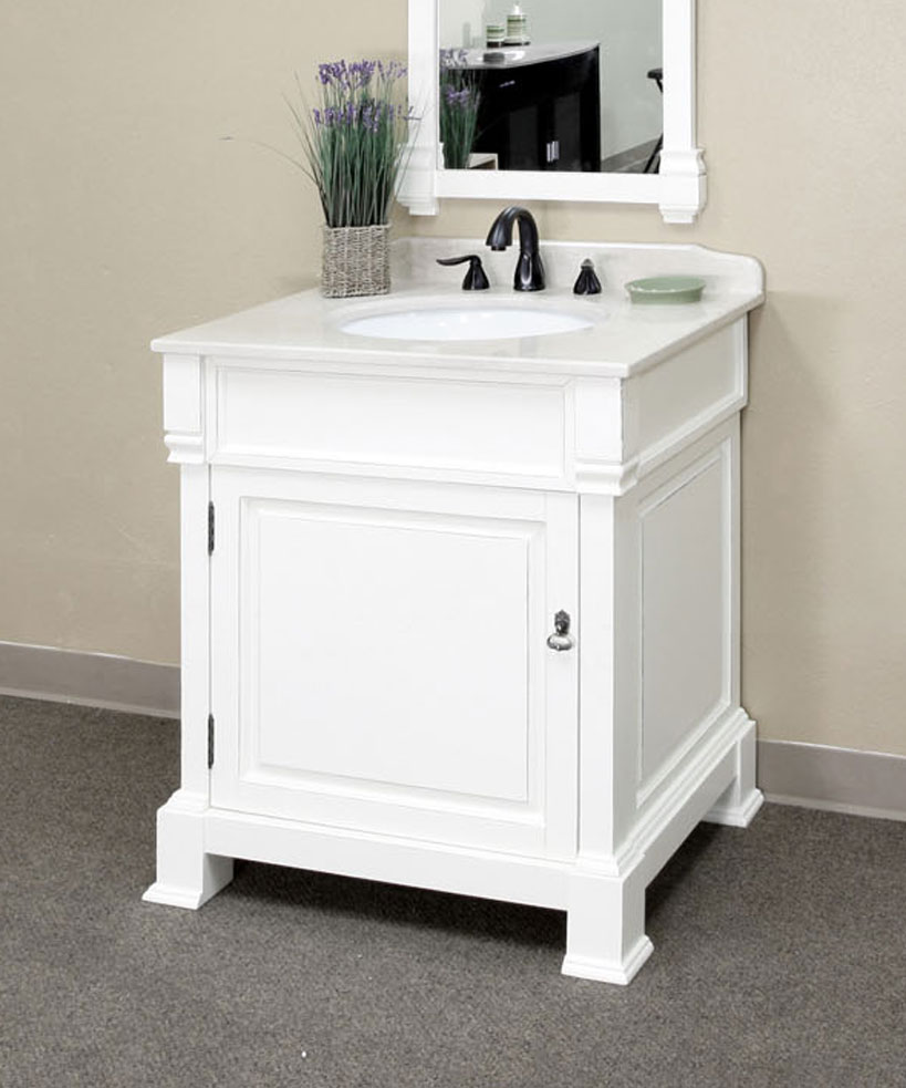 30 inch traditional single sink vanity wood by bellaterra - 30 inch single sink bathroom vanity ...