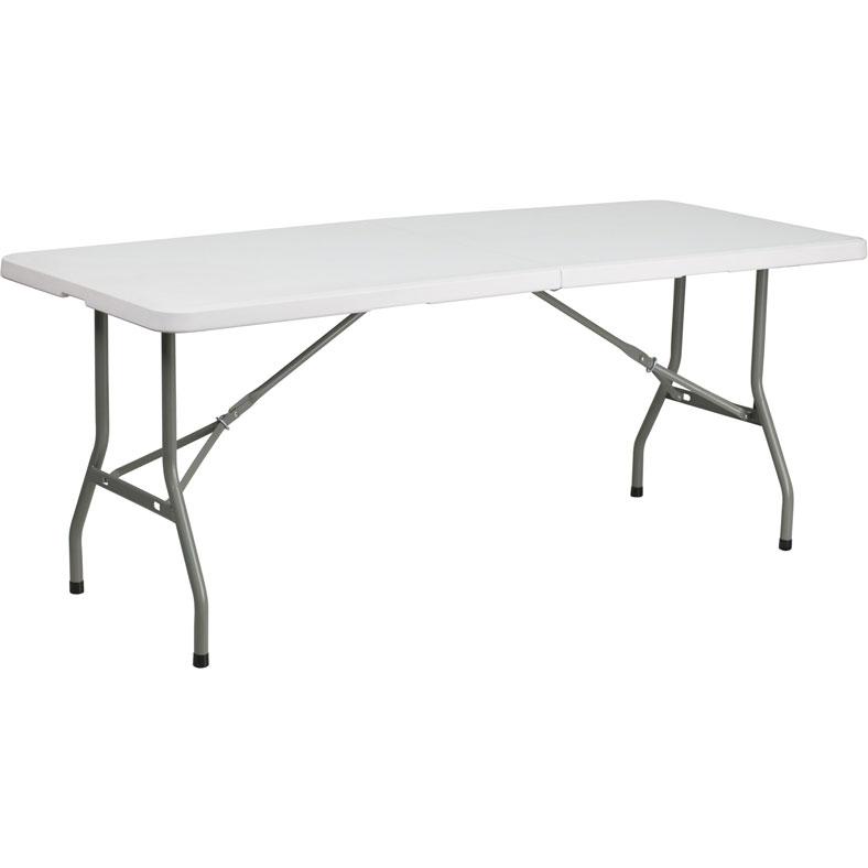 30 x 72 bi fold plastic table in folding tables. Black Bedroom Furniture Sets. Home Design Ideas