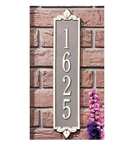 Lyon Vertical Home Address Plaque Image
