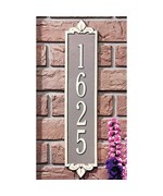 Lyon Vertical Home Address Plaque