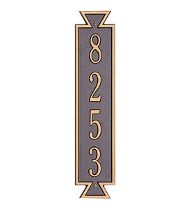 Exeter Vertical Home Address Plaque Image