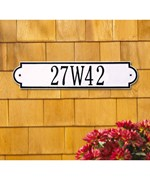 Richmond Horizontal One-Line Address Wall Marker