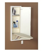 In Wall Ironing Board and Cabinet - White