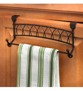 Twist Over Cabinet Towel Bar Image