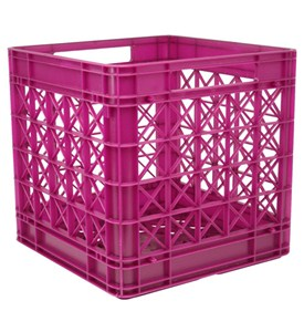 Iris Stackable Plastic Storage Crate - Fuschia Image