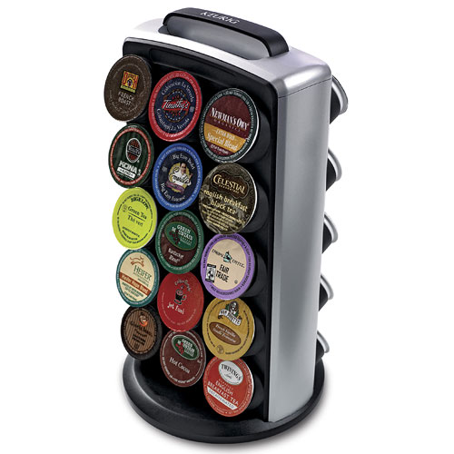 Rotating 30 K Cup Storage And Display Tower In Tea And