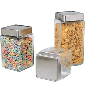 Stackable Glass Kitchen Canisters Image