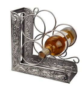 Wine Rack Bookend - Pewter Image