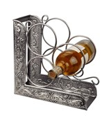 Wine Rack Bookend - Pewter