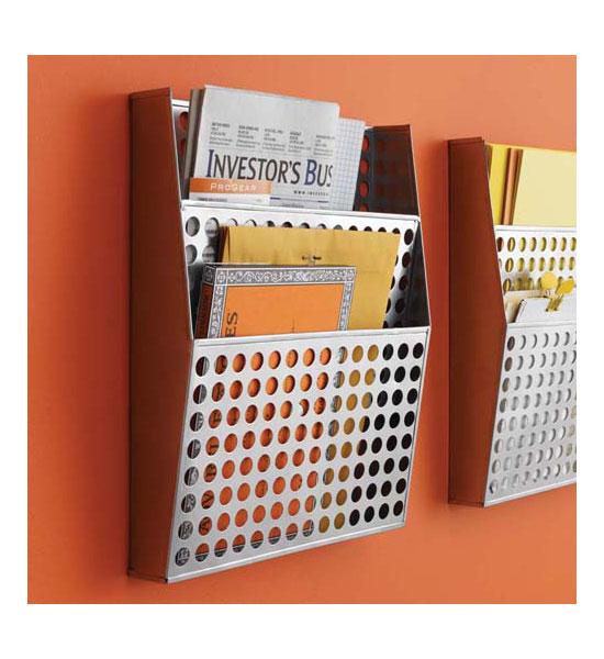 Metal Wall File Organizer In Wall Mount File Racks