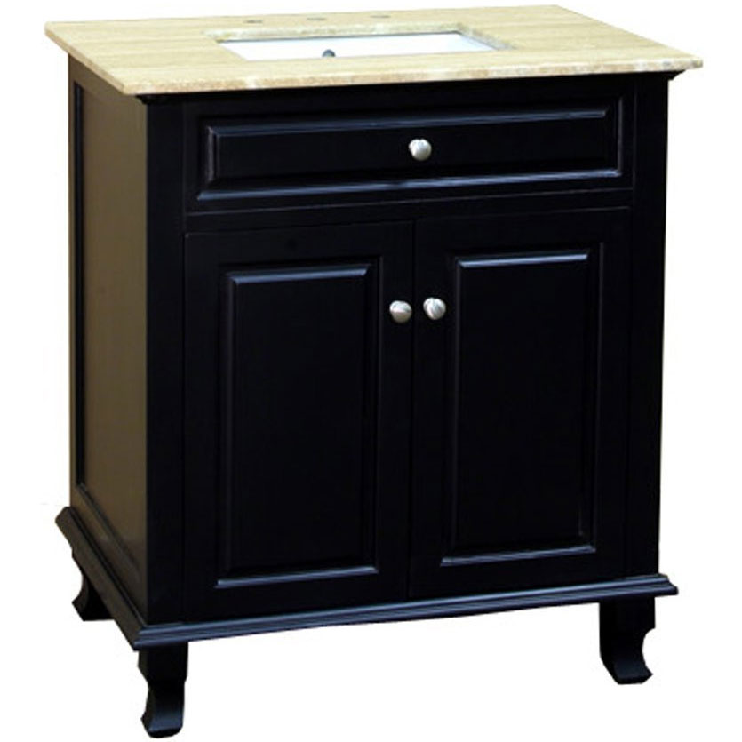 32 inch single sink travertine vanity in bathroom vanities - Bathroom vanities 32 inches wide ...