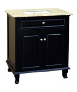 32 Inch Single Sink Wood and Travertine Vanity by Bellaterra Home