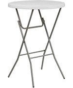 32'' Round Granite Plastic Bar Height Folding Table by Flash Furniture