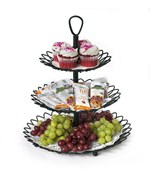 Black Three-Tiered Twist Serving Tray