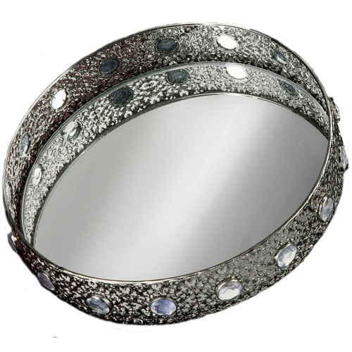 mirrored vanity tray in jewelry trays