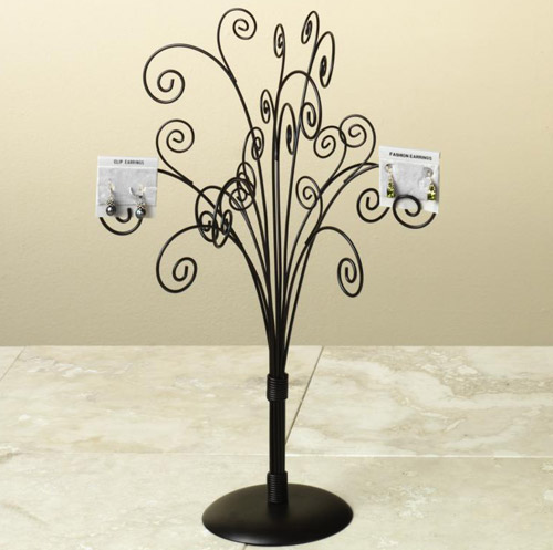 Wrought Iron Jewelry Tree - Brown Image