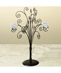 Wrought Iron Jewelry Tree - Brown