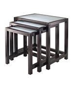 Frosted Glass Nesting Tables