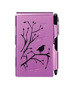 Flip Notes Pen and Notepad - Plum Wren