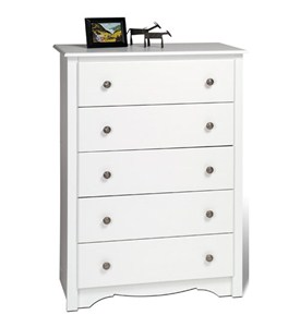 Monterey Five-Drawer Chest - White Image