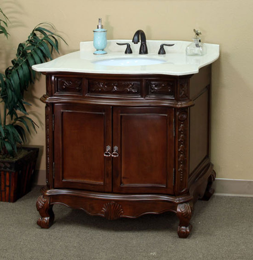34 6 Inch Single Sink Vanity Wood By Bellaterra Home In Bathroom Vanities