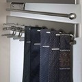 Deluxe Sliding Tie Rack - Satin Nickel