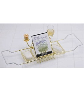 Aromatherapy Bathtub Caddy - Polished Brass Image