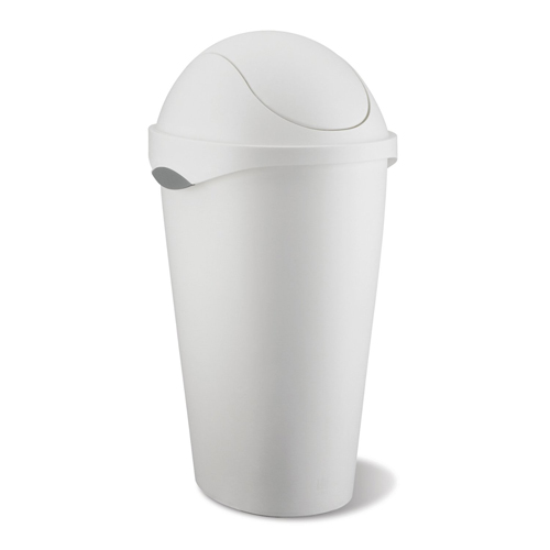 Umbra swing top trash can white in kitchen trash cans - White kitchen trash cans ...