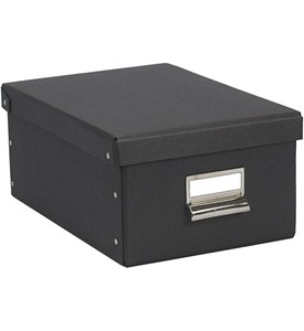 Photo Storage Box - Black Image