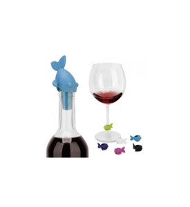 Guppy Wine Charms and Topper Image