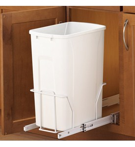 Pull-Out Cabinet Trash Can - 35 Quart Image