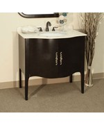 36.6 Inch Traditional Curved Apron Single Sink Vanity by Bellaterra Home
