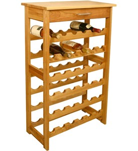 36 Bottle Wine Rack with Lacquered Top Image