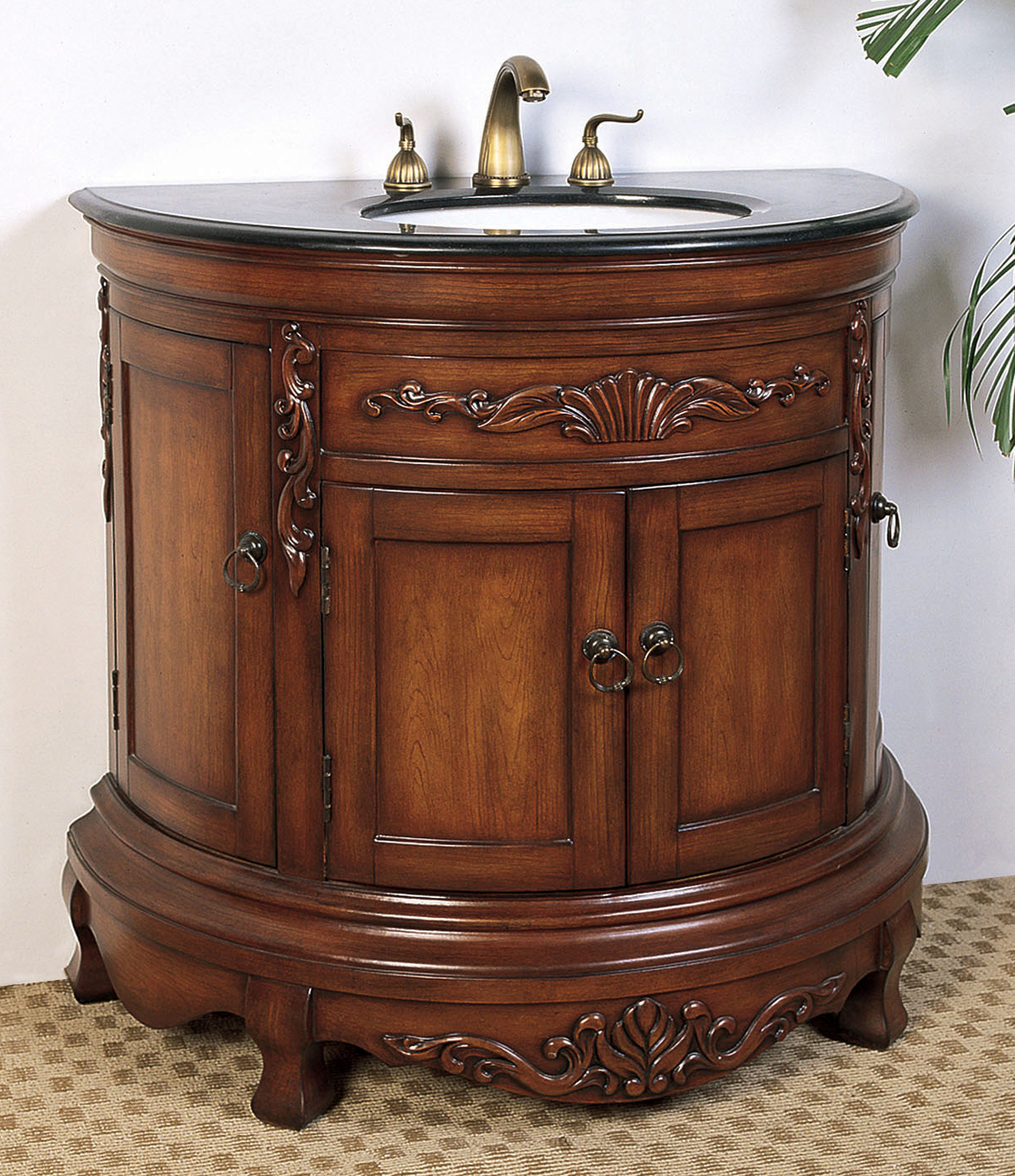 Inch Demilune Bathroom Vanity In Bathroom Vanities