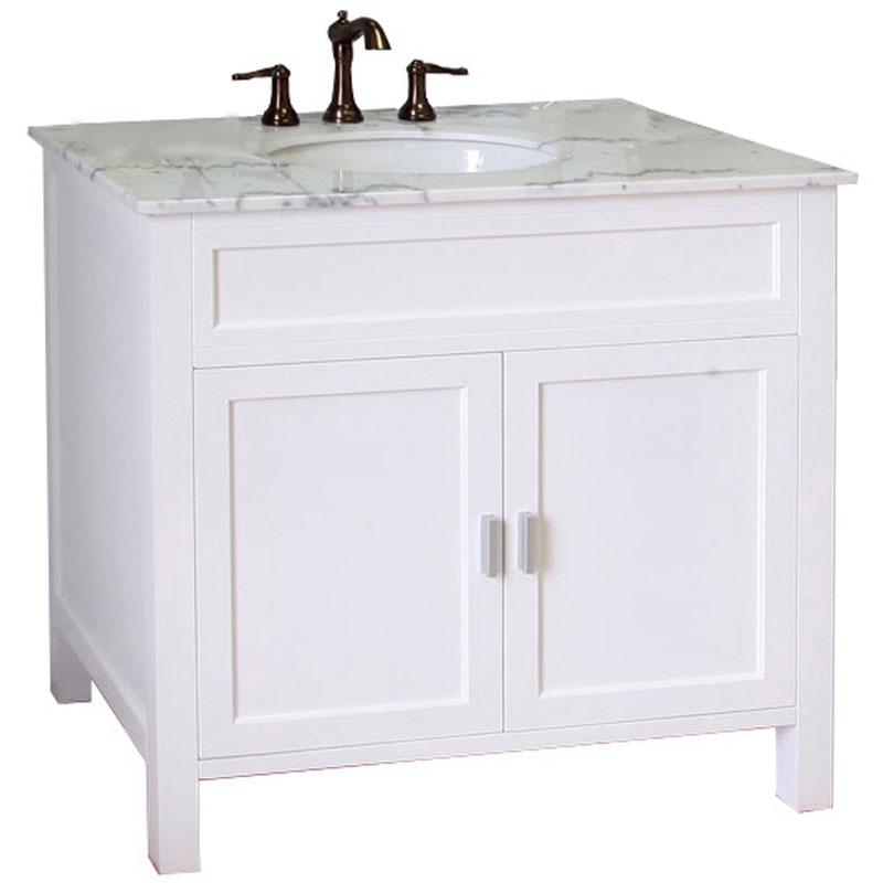 36 Inch Single Sink Wood Shaker Vanity In Bathroom Vanities