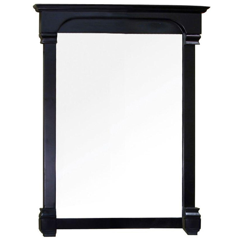36 inch traditional wood frame mirror in framed mirrors