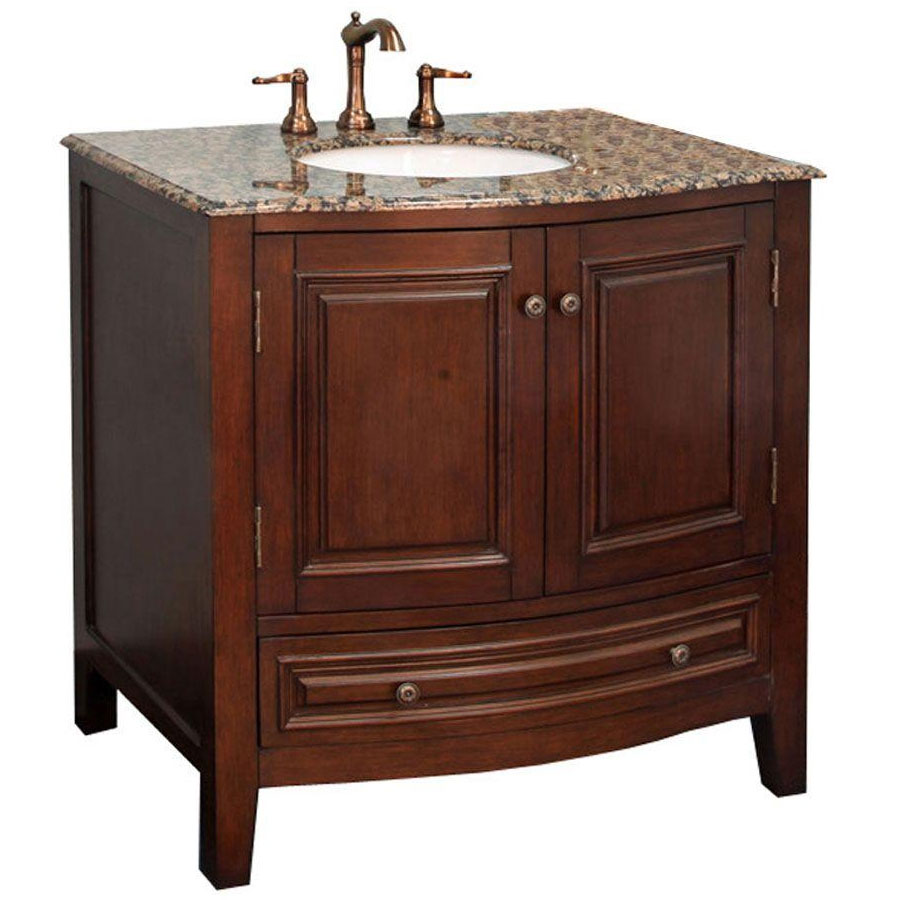 36 Inch Traditional Wood Sink Vanity In Bathroom Vanities
