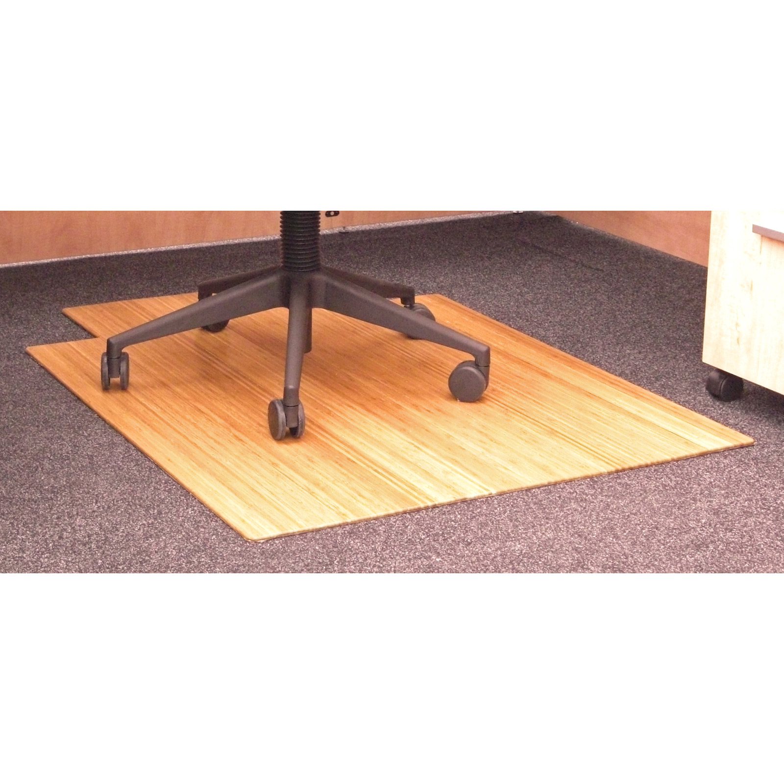 36 x 48 bamboo roll up chair mat with tongue in chair mats