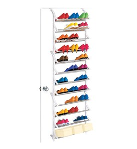 36 Pair Over Door Shoe Rack Image