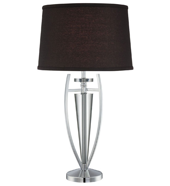 Chrome And Black Contemporary Table Lamp In Table Lamps