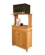 Hardwood Microwave Cart